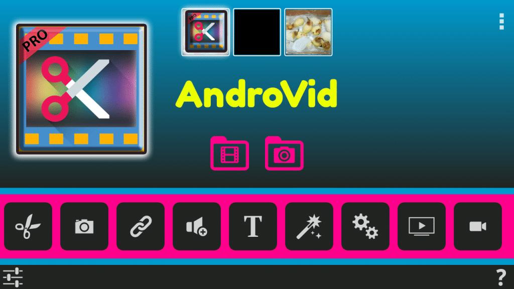 أبسط محرر فيديو AndroVid Pro