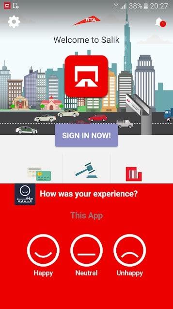 تطبيق سالك دبي Salik Dubai